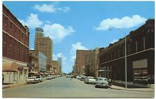 Abilene TX Cypress Street View Old Cars Store Fronts Postcard