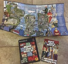 GTA Grand Theft Auto III 3 (Sony PlayStation 2) Complete w/Map Poster PS2 Game