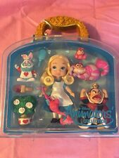 "NEW Disney Store Alice in Wonderland Animators Collection 5"" Mini Doll Play Set"