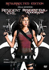 RESIDENT EVIL & RESIDENT EVIL APOCALYPSE DVD RESURRECTED EDITION NEW SEALED