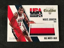 2014-15 EXCALIBUR USA - MAGIC JOHNSON HOF JERSEY RED WHITE & BLUE /25 - SHARP!