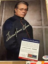 AUTOGRAPHED EDWARD JAMES OLMOS 8-10 PHOTO BATTLESTAR GALACTICA PSA CERTIFIED