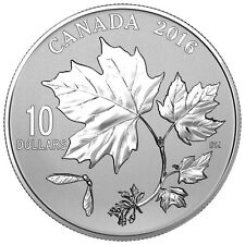 2016 $10 Canadian Maple Leaves .9999 Fine Silver Coin