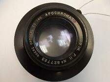 "Goerz Opt. Co. Inc. Apochromat Red Dot Artar 19"" F:11 Large Format Lens - USED"