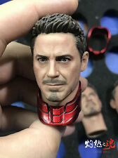 1/6 Scale Iron Man Tony Robert Downey Head Model For Hottoys MK45 Action Figure