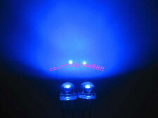 1000pcs, 5mm Blue Straw Hat LED 6000MCD Wide Angle Water Clear Leds Light New