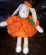 """HALLOWEEN PLUSH SOFT BUNNY PUMPKIN ( 16"""" FROM HAT TO TOES)"""