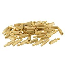 50pcs New Brass Hex Stand-Off Pillars Male to Female 6mm + 20mm M3 Good Quality