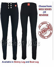 Girls Black Grey Navy School Trousers Hipsters Sizes 4-16 Miss Sexies Miss Chief