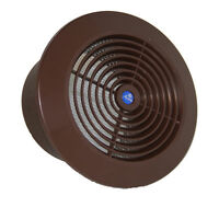 Circle Air Vent Grill Cover 100mm Ducting Brown Ventilation Cover Z-(60)