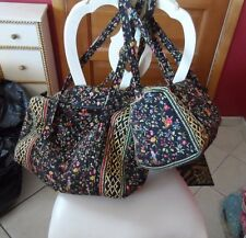 Vera Bradley Medium and small duffel bags travel set in Retired Ming pattern