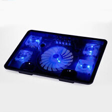 "5 Fans LED USB Laptop Cooling Stand Pad Cooler For Notebook 14""-17"" Radiator"