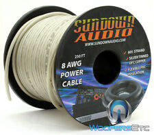 SUNDOWN AUDIO 8 GAUGE 805 STRANDS SILVER 250FT OFC SILVER TINNED COPPER WIRE NEW