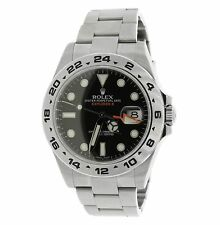 Rolex Explorer II 42mm 216570 Polar Black Stainless GMT Date Watch -MINT