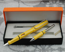 Hero 359 Summer Color Fountain Pen Yellow With Roller Pen Kits