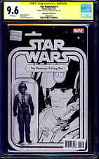 Poe Dameron #1 CGC SS 9.6 ACTION FIGURE SKETCH VARIANT signed JTC STAR WARS NM+