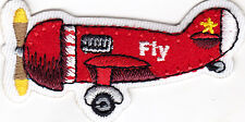"AIRPLANE - ""FLY""- AIRCRAFT - FLYNG - PLANE - IRON ON EMBROIDERED PATCH"