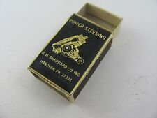 Rare Vintage Power Steering R.H. Sheppard Co. Inc Matchbook Box Made in Sweden