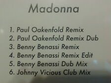 Madonna - Celebration remixes CD single PROMO 2009 Oakenfold Benny Benassi MINT