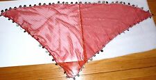 Fuchsia  Egyptian head scarf with coins  middle eastern belly dance women