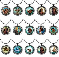 Moana Lot of 15 Bottle Cap Necklace Birthday Party Favors, Gifts