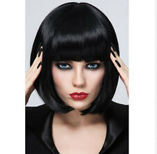 Cool Bob Synthetic Hair Women Short Bobo Straight Black Wig Full Wigs+Wig Cap