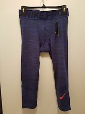 NWT $50 MEN'S NIKE PRO COMBAT HYPERCOOL 3/4 COMPRESSION TIGHTS SIZE LARGE-811392