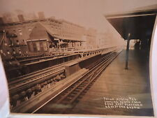 ORIG 1914 New York City NYC 8 x 10 El Subway 42 & 2 Photo