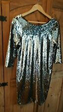 Topshop silver two-tone sequin dress *BNWT*sparkle*party*glam*bodycon size 10