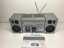 Vintage JVC PC-R55C Receiver - PC-D55C Cassette Deck Player Shortwave Boombox