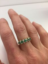 14k Emerald And Diamond Ring Size 7- A Real Lovely Ring