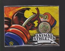 2012 $1 Coin Animal Athletes Weightlifting Rhinoceros Beetle Australia