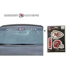 NFL Kansas City Chiefs Car Truck Suv Windshield Decal Sticker with Bonus