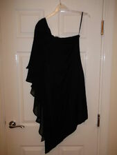 Oasis Black One Shoulder Dress Size S