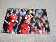 HAND SIGNED 12X8 PHOTO DIRK KUYT LIVERPOOL & HOLLAND STRIKER HOME SHIRT GENUINE