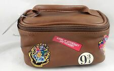 Harry Potter Hogwarts School Train Case Travel Tote Toiletry Cosmetic Vanity Bag