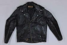 60s Vintage Harley Davidson Black Motorcycle Biker Leather Jacket M