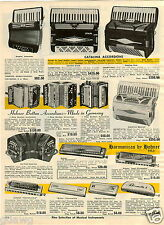 1965 PAPER AD Harmonica Accordion Hohner Catalina Germany Chromonica Echo Super