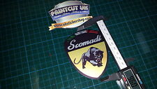 Scomadi Logo Badge Printed Decal Sticker innocenti lambretta mod nos vinyl GOLD