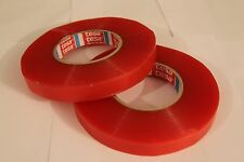 2 Rolls of Tesa 4965 Double Sided Transparent Tape; 19mm x 50m Very Strong