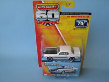 Matchbox 60th Anniversary 1968 Ford Mustang GT/CS White Body Toy Model Car