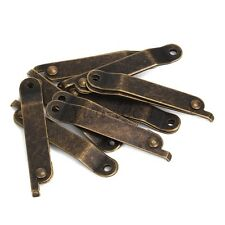 8x Vintage Bronze Home Furniture Box Lid Support Stay Hinge