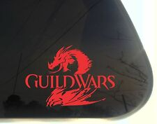Guild Wars 2 - die cut decal/sticker NOT PRINTED dragon Tyria Destiny's Edge