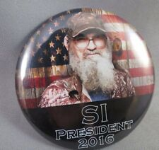 WHOLESALE LOT OF 12 SI ROBERTSON FOR PRESIDENT DUCK DYNYSTY BUTTONS Trump $ 2016