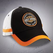 HOG Oil Can Black Orange White Cotton Hat