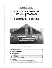 Jayco Fold-Down Pop-Up Tent Trailer Owners Manual- 1980 Featherlite