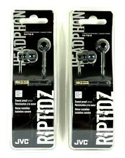 Lot of (2) JVC HAFX8B RIPTIDZ Inner-Ear Headphones/Earbuds (Black)for mp3/Tablet