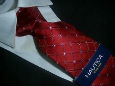 NAUTICA TIE silk Collection  RED BLUE  DOTS