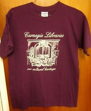CARNEGIE LIBRARIES logo med T shirt Our Cultural Heritage tee Andrew