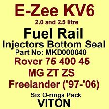KV6 Fuel Injector BOTTOM Seals VITON O-Rings Rover 75 400 45 MG ZT ZS Freelander